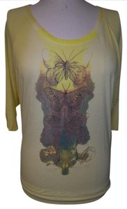 Free People Pre-owned Never Worn T Shirt Yellow