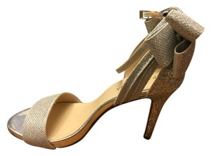 Menbur Embellished Open Toe Ankle Strap Glitter Bow Silver Formal