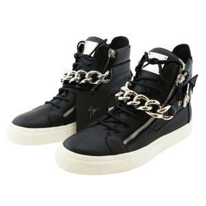 Giuseppe Zanotti High-top Sneakers Zanotti Men Sneakers Zanotti Chain Zanotti High-top Black Boots