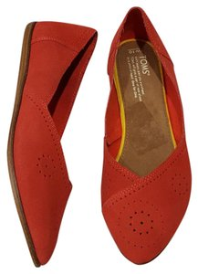 TOMS Jutti Suede Perforated Suede Cayenne Flats