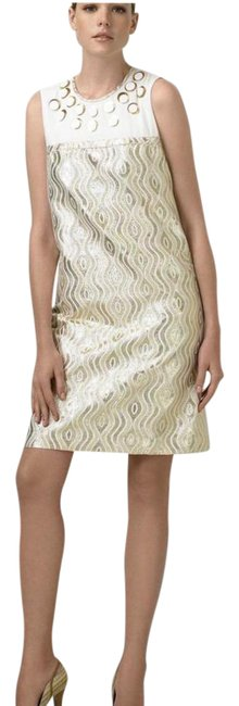 Preload https://img-static.tradesy.com/item/20938158/tory-burch-gold-and-cream-clayton-mid-length-cocktail-dress-size-4-s-0-3-650-650.jpg