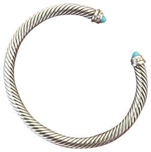 David Yurman David Yurman 5mm Cable Classics Bracelet with Turquoise and Diamonds