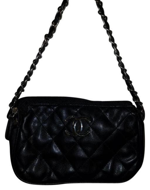 Item - C Monogram Purse Quilted Black Faux Leather Satchel