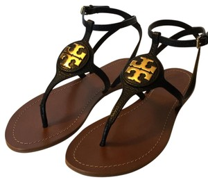 Tory Burch Flats Black Sandals