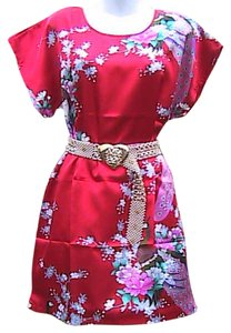short dress Floral Peacock Red on Tradesy