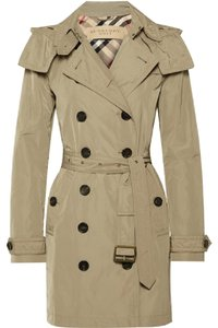 Burberry Brit Trench Hood Raincoat Trench Coat
