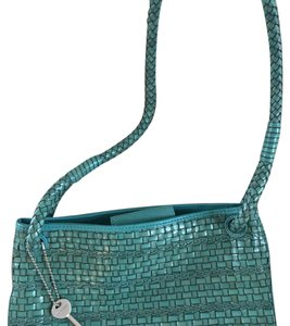Fossil Tote in teal green turquoise