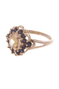 Other 14K Yellow Gold Yellow & Blue Sapphire Ring
