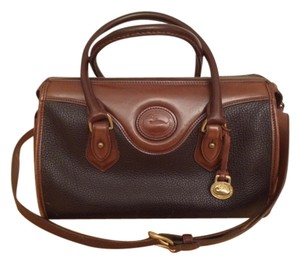 Dooney & Bourke Satchel in Dark bown and tan