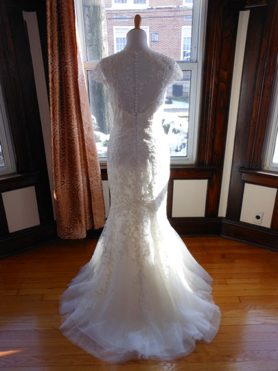 Pronovias Off White Lace 5332 Destination Wedding Dress Size 12 (L) Image 2