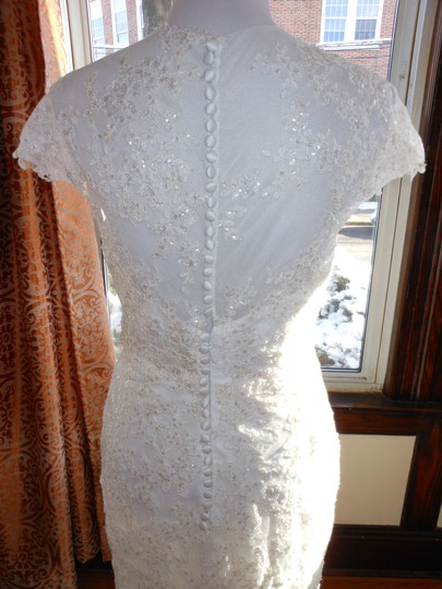 Pronovias Off White Lace 5332 Destination Wedding Dress Size 12 (L) Image 4