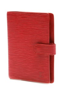 Louis Vuitton Louis Vuitton Red Epi Leather Small Ring Agenda Cover