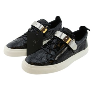 Giuseppe Zanotti Men Zanotti Sneakers High-top Sneakers Zanotti Metal Strap Black Athletic