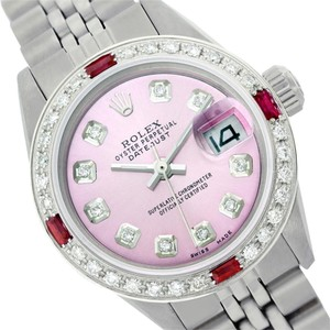 Rolex WOMENS ROLEX DATEJUST 6917 PINK DIAMOND & RUBY WATCH