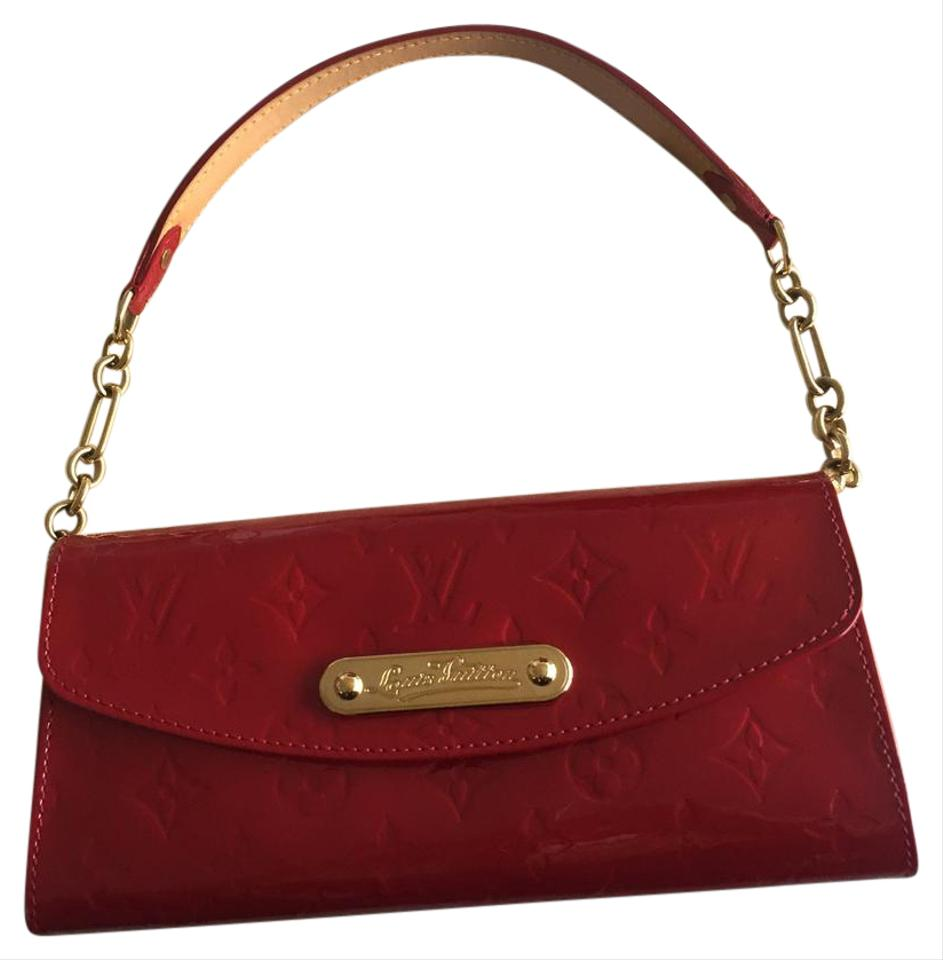ae31ce623813 Louis Vuitton Sunset Boulevard Red Patent Leather Clutch - Tradesy