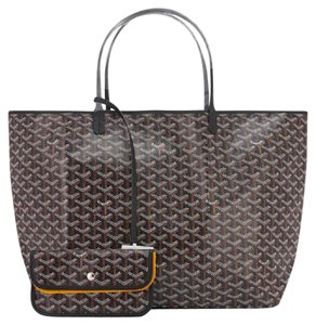 Goyard St Louis Gm Tote in Black