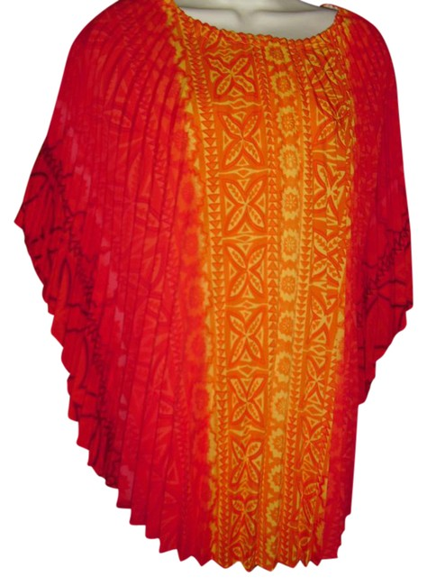 Preload https://img-static.tradesy.com/item/20938846/fashionista-orange-yellow-red-caftan-pleated-poncho-broomstick-knife-electric-pleats-tunic-size-os-o-0-1-650-650.jpg