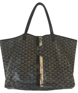 Goyard Chevron Made In France St.louis Tote in Black