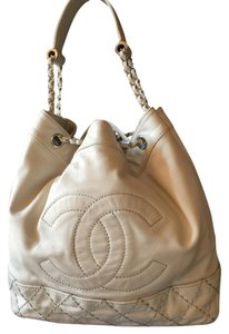 5077149228c3 Added to Shopping Bag. Chanel Leather Quilted Drawstring Shoulder Bag. Chanel  Drawstring Chain Bucket ...