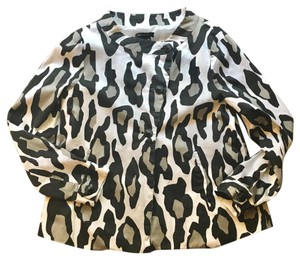Sandro Animal Print Blazer