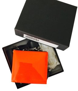 Alexander McQueen patent leather chain wallet