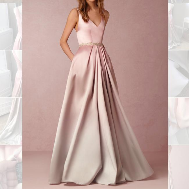 Item - Blush Ombre Ml Lorraine Bhldn Anthropologie Feminine Wedding Dress Size 6 (S)