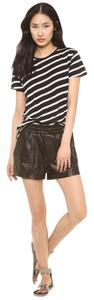 Koral Mina Leather Shorts Black