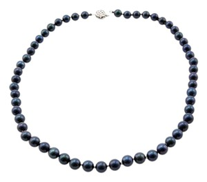 Japanese Akoya Japanese Akoya Black 7.5 MM AAA Pearl Necklace