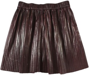Isabel Marant A-line Pleated Skirt Red