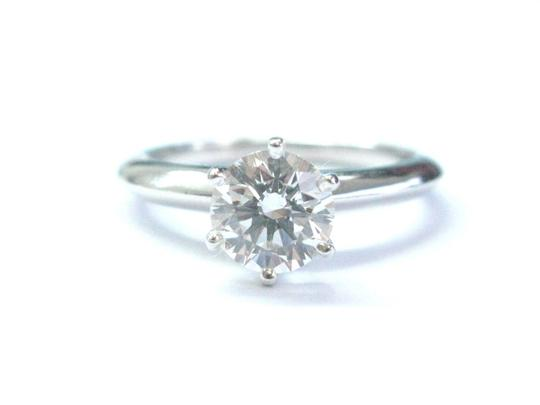 Tiffany & Co. Tiffany & Co Platinum Round Diamond Solitaire Engagement Ring 1.03CT G Image 7