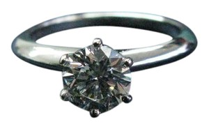 Tiffany & Co. Tiffany & Co Platinum Round Diamond Solitaire Engagement Ring 1.03CT G