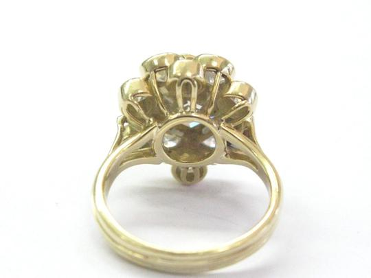 Other 18Kt Fancy Brown Octagon Half Moons & Round Cut Diamond Yellow Gold Ri Image 1