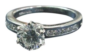 Tiffany & Co. Tiffany & Co Platinum Diamond Channel Set Engagement Ring 1.33CT G-VS1
