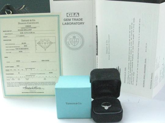 Tiffany & Co. Tiffany & Co Platinum Diamond Channel Set Engagement Ring 1.33CT G-VS1 Image 8
