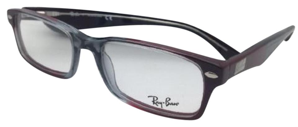 cdc5243e64632 Ray-Ban Rx-able Highstreet Rb 5206 5517 54-18 Grey-red Burgundy ...