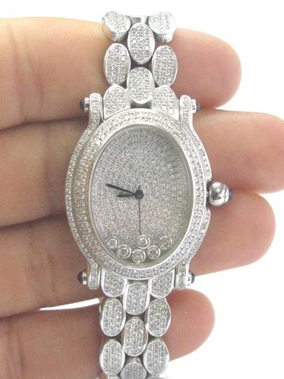 Other 18Kt Oval Shape Diamond White Gold Watch 10.00Ct Image 1