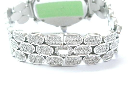 Other 18Kt Oval Shape Diamond White Gold Watch 10.00Ct Image 4