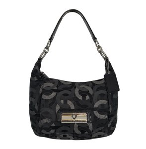 Coach Very Rare Lurex Signature Jacquard Leather Hobo Bag