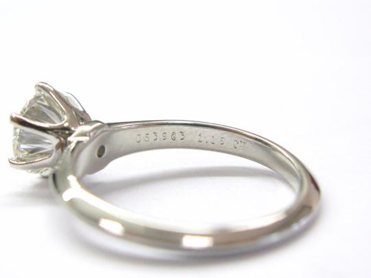 Tiffany & Co. Tiffany & Co Platinum Round Diamond Solitaire Engagement Ring 1.19CT H Image 1