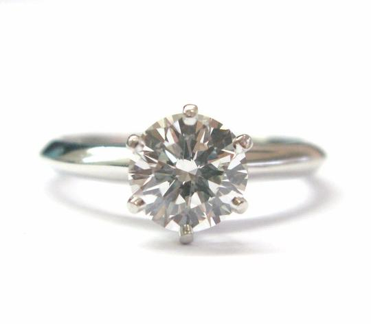 Tiffany & Co. Tiffany & Co Platinum Round Diamond Solitaire Engagement Ring 1.19CT H Image 4