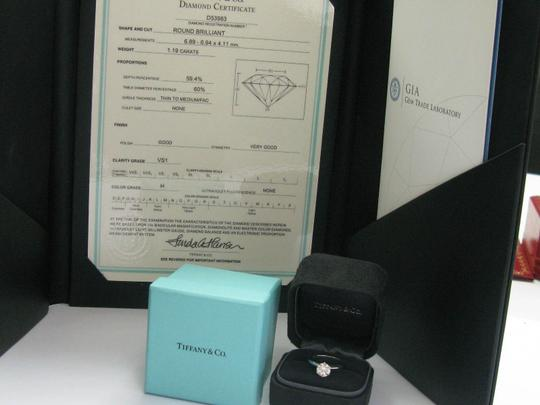 Tiffany & Co. Tiffany & Co Platinum Round Diamond Solitaire Engagement Ring 1.19CT H Image 8