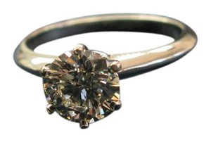 Tiffany & Co. Tiffany & Co Platinum Round Diamond Solitaire Engagement Ring 1.19CT H