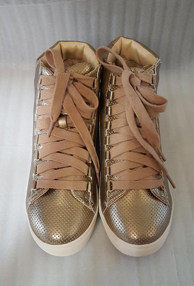 d811450ede4 Steve Madden Rose Gold Darya High Top Sneakers Size US 7.5 Regular (M, B)