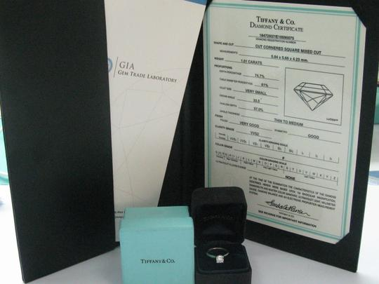 Tiffany & Co. Tiffany & Co PLATINUM Lucida Diamond Ring F-VVS2 1.01CT Image 7
