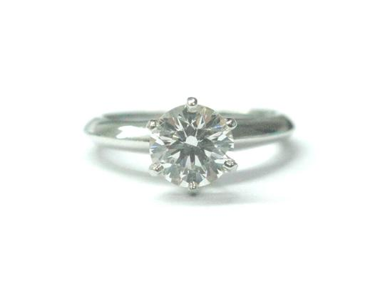 Tiffany & Co. Tiffany & Co PLAT Round Diamond Solitaire Engagement Ring 1.05CT H-VVS Image 1