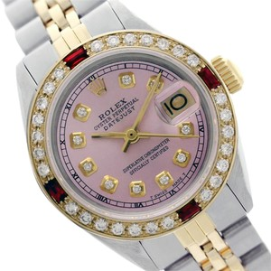Rolex Rolex Datejust Ladies Pink Ruby & Diamond Two Tone 26mm