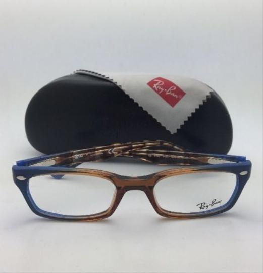 Ray-Ban RAY-BAN Rx-able Eyeglasses HIGHSTREET RB 5150 5488 Brown Transp-Blue Image 1