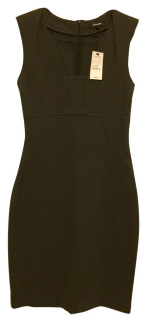 Preload https://item4.tradesy.com/images/express-grey-knee-length-workoffice-dress-size-0-xs-2093948-0-0.jpg?width=400&height=650