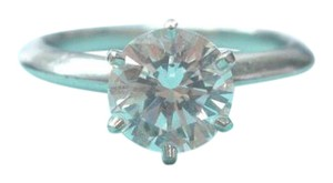 Tiffany & Co. Tiffany & Co Platinum Round Diamond Solitaire Engagement Ring 1.29CT I