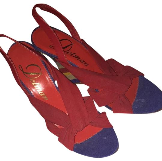Delman Red Wedges